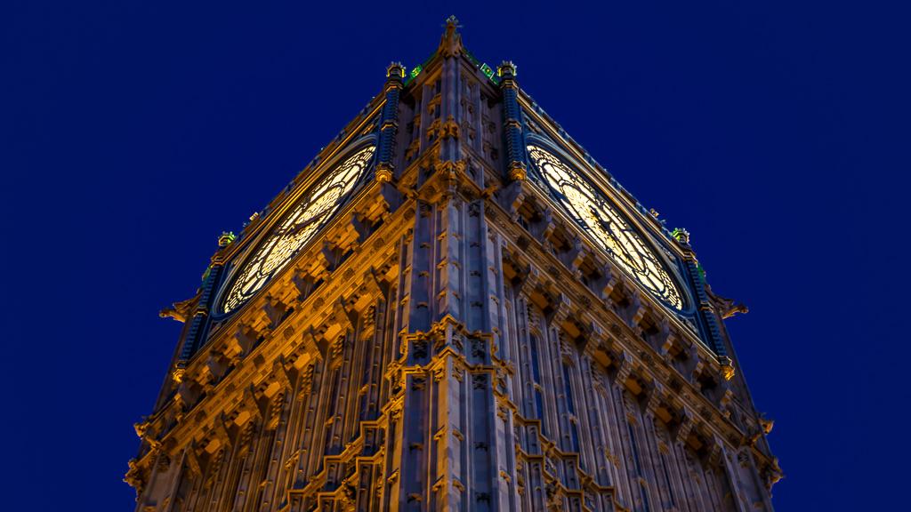 Ein Closeup von der Seite von Big Ben.
